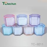 Цвет шестиугольника прозрачный внутри помещенная губкой коробка вахты пластичная