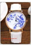 Relógio das mulheres excelentes graciosas de quartzo com cinta de couro Fs594