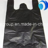 Черный полиэтиленовый пакет тельняшки тенниски Resuable для бакалеи