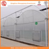 농업 또는 광고 방송 또는 정원 냉각 장치를 가진 플라스틱 녹색 집