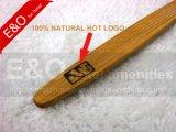 Brosse à dents 100% naturelle en bambou à charbon de bois avec logo chaud