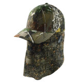 Promoción personalizada de alta calidad de la tapa de camuflaje tapa Snapback béisbol sombrero con tapa de la Oreja de protección de deportes