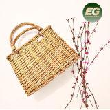 O verão novo do projeto ensaca a bolsa de bambu de tecelagem do Satchel da palha do Rattan do Knit gama alta com laço T114