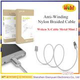 Wsken XケーブルMini2の金属iPhone/マイクロUSBのための磁気ケーブルデータ充電器ケーブル