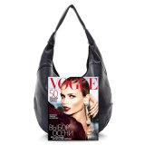女性の方法ハンドバッグの上のハンドル袋の本革のルンペン袋
