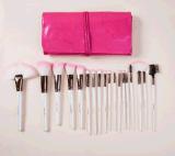 [درمّكر] [بو] جلد لون قرنفل حقيبة [18بكس] بنية فرشاة
