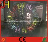 Bola inflable barata de Zorb que brilla intensamente con la luz del LED