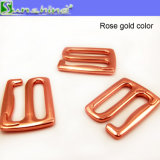 Gancho de leva del metal del oro de Rose del traje de baño en prueba del agua