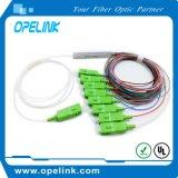 Gpon, PLC 1X2/4/8 van de Vezel van de Telecommunicatie Epon Optische Splitser