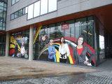 Freie transparente passen Entwurfs-Wand-Fenster-Glas-Fahrzeug-Auto selbstklebende Belüftung-Vinylaufkleber-Rollendrucken-Media an