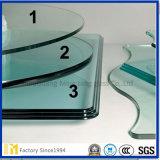 Espejo biselado de cristal, vidrio biselado Tabla superior del vidrio, vidrio de los muebles, vidrio templado para los muebles