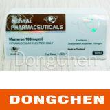 Étiquette pharmaceutique de fiole de vente de l'hologramme 10ml fait sur commande libre chaud de modèle
