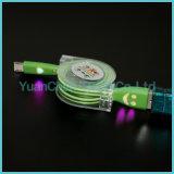 Быстрый поручая Retractable кабель данным по USB Micro для Android телефона