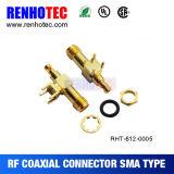 Type femelle connecteur coaxial de carte de SMA de rf