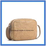 Dernière arrivée Nouveau matériel Sac à bandoulière en papier DuPont, cadeau promotionnel écologique Sac à bandoulière en papier Shovek avec ceinture ajustable en nylon