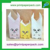 Bolso impreso aduana del dulce del caramelo del bolso del regalo del bolso de la diversión de las bolsas de papel de Kraft de los pescados/del gato