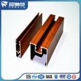 perfil de alumínio do Graining 6063t5 de madeira para o indicador de alumínio e a porta