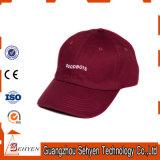 gorra de béisbol de encargo promocional Bill 6 del algodón largo del panel de 100%Cotton