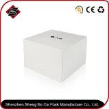 caixa de empacotamento feita sob encomenda do papel de impressão do bolo 335g/jóia/presente