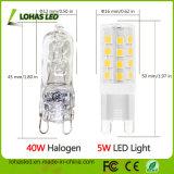 Mini-LED-Mais-Birnen-Licht 5W wärmen weiße Birne G9