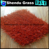 25mm 8800dtex 16800tuft Dichte-rotes künstliches Rasen-Gras
