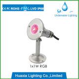 Illuminazione esterna di paesaggio della lampada subacquea del punto luminoso dell'acciaio inossidabile LED