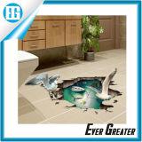 Crear la etiqueta engomada de gran tamaño impermeable de la pared para requisitos particulares del cuarto de baño