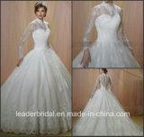 Мусульманские устраивающих свадебные платья длинными рукавами кружева свадебные платье W15225