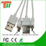 Qualitäts-doppeltes Seite USB-Daten-Kabel für Samsung