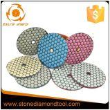 4개 인치 7 단계 벨크로 다이아몬드 화강암 건조한 닦는 패드