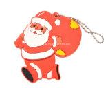 승진 선물 산타클로스 PVC USB Pendrive 크리스마스 USB 섬광 드라이브