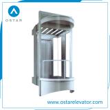 Elevatore panoramico sicuro e comodo di osservazione con la baracca a forma di di Taglio-Angolo