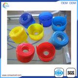 Frasco plástico do plástico da tampa das cores diferentes