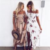 2017 горячая продажа женщин взять на себя печатные Лонг Бич платье (17029)