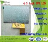 """4.3 """" luminance élevée de 480*272 RVB 40pin : Module de TFT LCD personnalisé par 500"""
