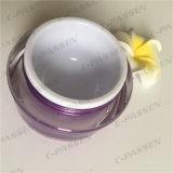 化粧品の包装のための30g紫色のアクリルのクリーム色の瓶(PPC-ACJ-101)