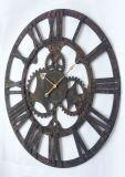 Reloj redondo de madera del recorte rústico