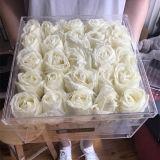 Squre 애인을%s 투명한 아크릴 25 PCS 로즈 꽃 상자