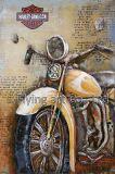 Peinture en métal 3D Art de mur pour Motobike