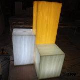 10mm de espessura acrílico translúcido superfície sólida para aplicação de decoração