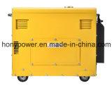 5kw5kVA携帯用空気によって冷却される単一シリンダー無声ディーゼル発電機