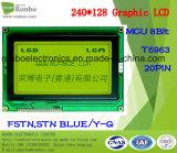 модуль 240X128 графический LCD, MCU 8bit, T6963, 20pin, панель УДАРА FSTN LCD