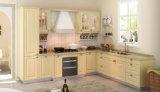 Gabinetes de cozinha de madeira da cereja