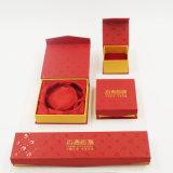 Boîte en carton de luxe en gros de papier de Leatherette (J08-E2)