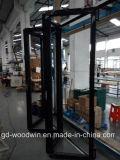 Portello di piegatura di alluminio della rottura termica calda del venditore di Woodwin con il doppio vetro di Temperd