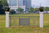Haohan 고품질 장식적인 직류 전기를 통한 강철 Alluminum 합금 발코니 가로장으로 막는 4