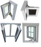 2016 Las últimas Grill Diseño vidriada Ventana del marco de UPVC doble, Gran Vidrio de Windows
