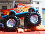 Refrescar a gorila inflable de salto de la casa del tema del coche del diseño para la venta