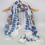Sciarpa di stile di Boho, stampa le sciarpe di scheletro dell'accessorio di modo dello scialle