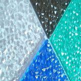 Лист поликарбоната листа диаманта пластичным выбитый зеленым цветом